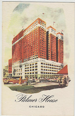 Vintage Postcard Chicago Palmer House Hotel