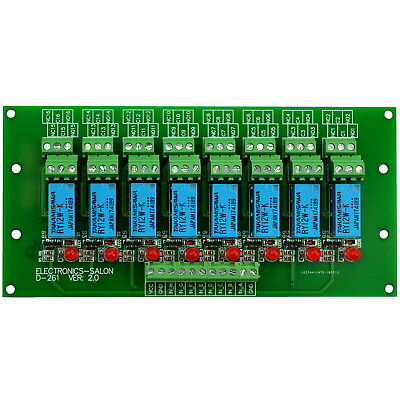 Eight DPDT Signal Relays Module Board, 12V,for 8051 PIC