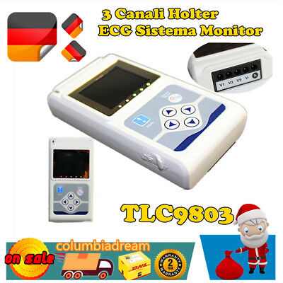 3 canali Color ECG Holter Recorder EKG Holter Monitor SALE