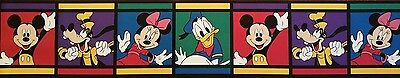 Classic Mickey Mouse and friends wall border