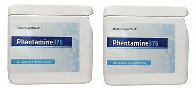 2 x Phentamine 375 - Phen375 Replacement - Diet Slimming Weight Loss Pills