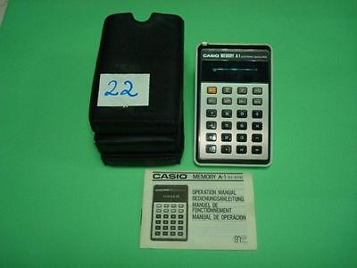 Calculadora - Calculator. Casio Memory A-1.  Cod$*22 -