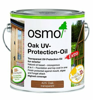 Osmo UV Protection Oil 425 OAK- Extra Exterior- 2.5ltr & 0.75ltr tin Choose size