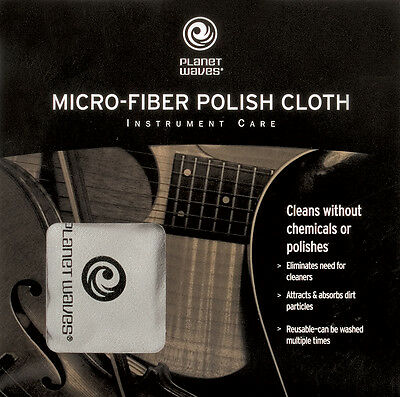 Planet Waves Microfiber Polish Cloth - INSTRUMENT CARE!