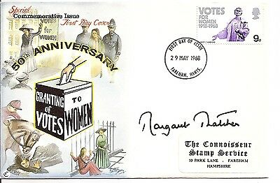 MARGARET THATCHER signed Womens Rights 50 anniversary FDC