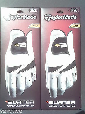"NEW! TaylorMade Men's BURNER ""B"" Golf Glove's LH (2) ML (Medium-Large)"