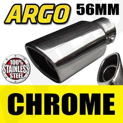 Chrome Exhaust Tailpipe Tip Trim End Muffler Finisher Volkswagen Vw Jetta Saloon