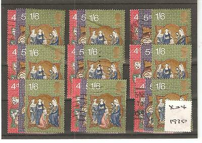Commems -X04- Christmas  1970 -  Nine Sets - Commercially Used
