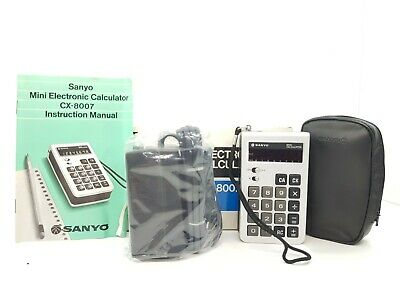 Calculadora - Calculator. Sanyo Cx-8007.  Cod$*58 -