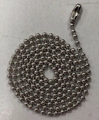 """WHOLESALE LOT 50 100 500 1000  BALL CHAIN 3.2mm 24/"""" Nickel Plated Thick"""