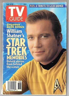 TV GUIDE 9/4-10/93--VG / STAR TREK & William Shatner^^^