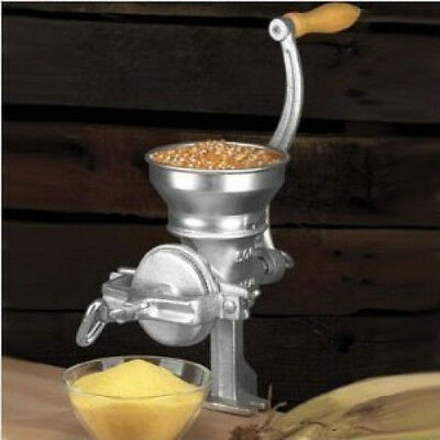 Short Cast Iron Mill grinder hand crank manual grain oat corn wheat coffee soy
