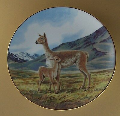 Last Of Their Kind Endangered Species THE VICUNA Plate #9 Ninth Iss Will Nelson