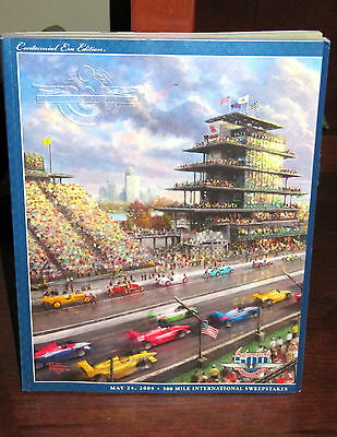 Indy 500 Official Program CENTENNIAL ERA Issue THOMAS KINKADE ART COVER