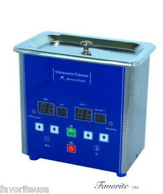 Eumax 0.7L-1-1/2 Pt Heated Digital Ultrasonic Cleaner