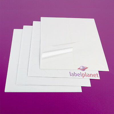 A4 Sheet Transparent Polyester Labels Round Clear Laser Waterproof Label Planet®