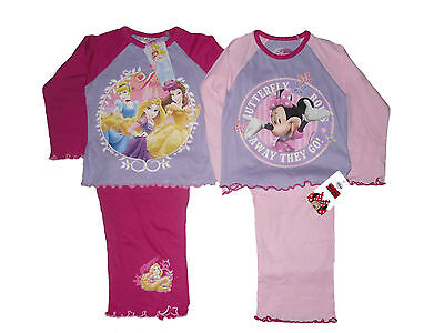Baby Girls Pyjamas Disney Minnie Mouse/princess 12-18 & 18-24 Months Bnwt