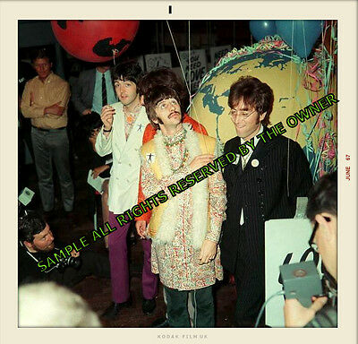 Beatles JOHN LENOON DURING THE SGT PEPPERS PERIOD FANTASTIC SNAPSHOT APROX 5 x 5
