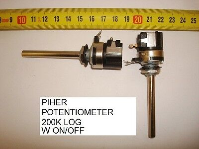 Potenciometro Carbon. Carbon Piher Potentiometer. 200K Log C/i W On/off. P14