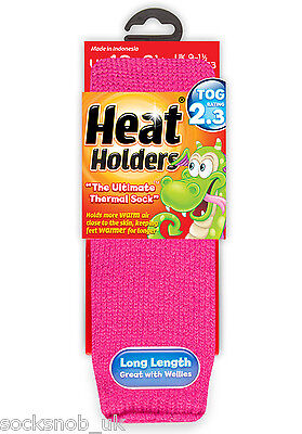 Girls Thermal Heat Holder Socks Size 9-1 Uk, 27-33 Eur, Age 3-8 Years Hot Pink