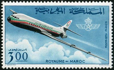 YT 115  MAROC Timbre Neuf ** TTB  ROYAL AIR CARAVELLE PA 1966