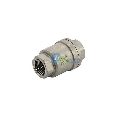 """1/2"""" Stainless Steel Check Valve WOG 1000 Spring Loaded In-line SS316 BSPT BSPT"""