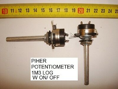 Potenciometro Carbon  Piher Potentiometer.piher 1,3M 1M3 Log C/i W On/off. P9