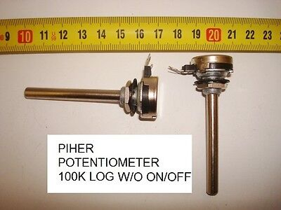 Potenciometro Carbon Piher Potentiometer.100K Log S/i W/o On/off. P8