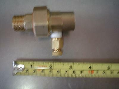 "Inline Brass Air Port Fitting 13/16"" Male & Female Ends 3/8"" port 3"" long"