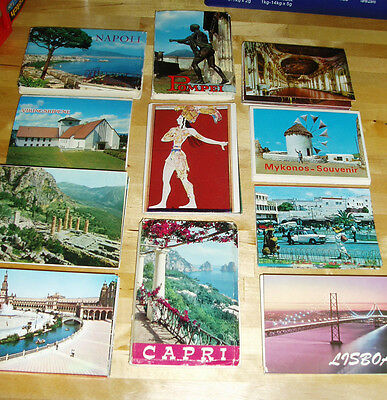 55 VINTAGE Fold-out PHOTO BOOKLETS Italy GREECE Portugal SPAIN Morocco NORWAY