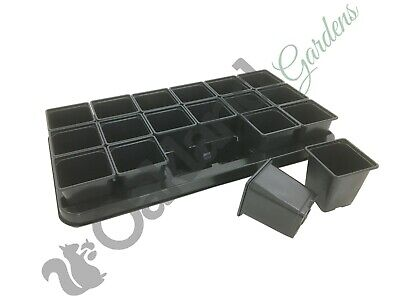 60 POTS HANDY SIZE COMBO DEAL  5  X  CARRY TRAYS FOR 9CM SQUARE PLANT POTS