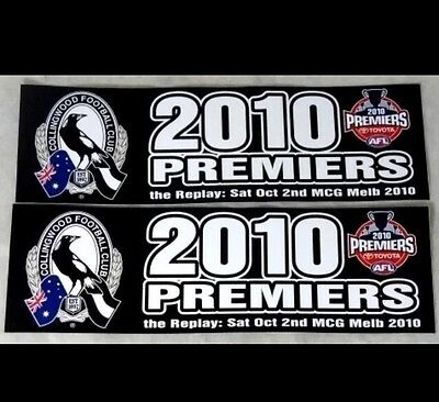 AFL COLLINGWOOD MAGPIES FOOTBALL STICKERS PREMIERS 2010 SPECIAL PRICE CAR 1pc