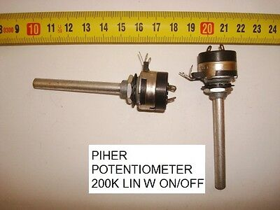 Potenciometro Carbon  Piher Potentiometer. 200K Lin C/i W On/off. P13