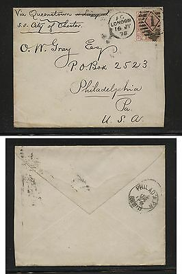 Great  Britain  67 pl11 on cover to  US  nice item       HC0414