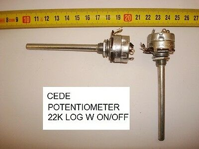Carbon Cede Potentiometer.22K Log C/i W On/off. P21