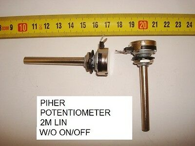 Potenciometro  Carbon Piher Potentiometer. Piher 2M Lin S/i W/o On/off. P9