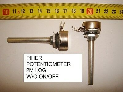 Potenciometro Carbon Piher Potentiometer. Piher 2M Log S/i W/o On/off. P7