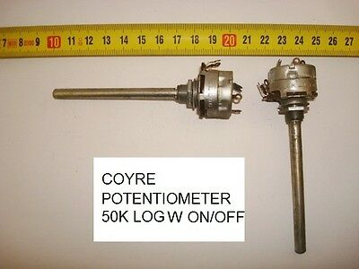 Potenciometro Carbon  Coyre Potentiometer. 50K Log C/i W On/off. P15