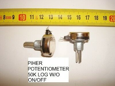 Potenciometro Carbon Piher Potentiometer. 50K Log S/i W/o On/off. P20