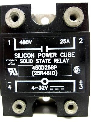 Opto 22 480D25Sp Silicon Power Cube Solid State Relay, 480V, 25A - New