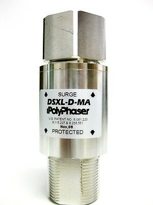PolyPhaser DSXL-D-MA IN-LINE EMP SURGE FILTER, 800MHz to 2.3GHz