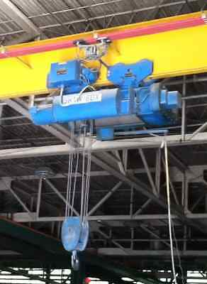 10 Ton Shaw Box Bridge Crane with 215 feet of runway and 36 foot span