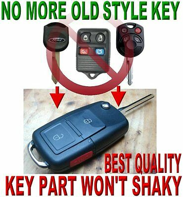 Flip Key Remote For Ford F150 F250 Edge 40Bit Transponder Chip Keyless Entry