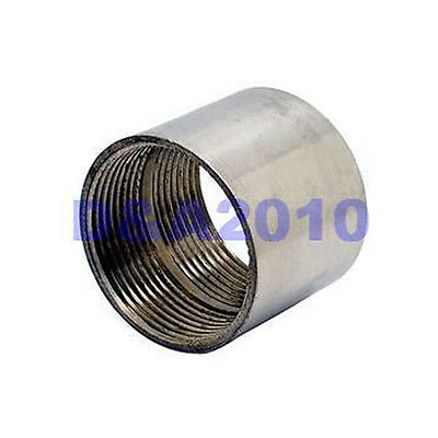 "New 1-1/4"" Female x 1-1/4"" Female 304 Stainless Steel threaded Pipe Fitting BSPT"