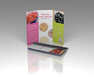 "1000 CUSTOM Z-FOLD 8.5""x11"" FULL COLOR BROCHURES/FLYERS 100# GLOSSY 2 SIDED"