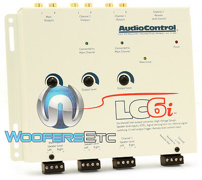 WHITE LC6i AUDIO CONTROL CAR 6-CHANNEL LINE OUTPUT CONVERTER AUDIOCONTROL NEW
