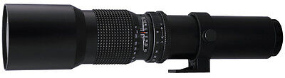 BOWER 500mm Preset Telephoto Lens with 2x (up to 1000mm total) for CANON