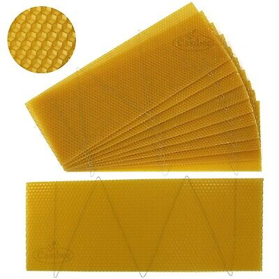 National Bee Hive Super Wired Wax Foundation Sheets 10 pcs Beekeeping Easibee