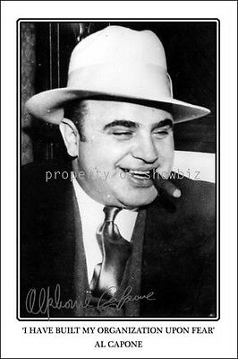 * AL CAPONE * LARGE SIGNED AUTOGRAPH PHOTO! Great as a gift or memorabilia!
