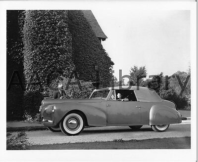 1940 Lincoln Continental Convertible Coupe, Factory Photo (Ref. #53287)
